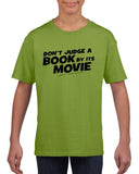 Don't judge a book by its movie Black Kids T Shirt-T Shirts-Gildan-Kiwi-YXS (3-5 Year)-Daataadirect