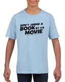 Don't judge a book by its movie Black Kids T Shirt-T Shirts-Gildan-Light Blue-YXS (3-5 Year)-Daataadirect