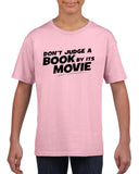 Don't judge a book by its movie Black Kids T Shirt-T Shirts-Gildan-Light Pink-YXS (3-5 Year)-Daataadirect