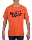 Don't judge a book by its movie Black Kids T Shirt-T Shirts-Gildan-Orange-YXS (3-5 Year)-Daataadirect