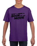 Don't judge a book by its movie Black Kids T Shirt-T Shirts-Gildan-Purple-YXS (3-5 Year)-Daataadirect