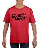 Don't judge a book by its movie Black Kids T Shirt-T Shirts-Gildan-Red-YXS (3-5 Year)-Daataadirect