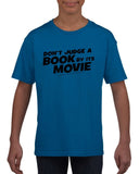 Don't judge a book by its movie Black Kids T Shirt-T Shirts-Gildan-Royal Blue-YXS (3-5 Year)-Daataadirect