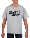 Don't judge a book by its movie Black Kids T Shirt-T Shirts-Gildan-Sport Grey-YXS (3-5 Year)-Daataadirect
