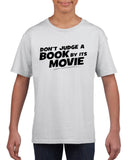 Don't judge a book by its movie Black Kids T Shirt-T Shirts-Gildan-White-YXS (3-5 Year)-Daataadirect