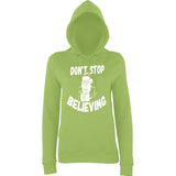 Don't stop believing Womens Hoodies White-AWD-Daataadirect.co.uk