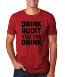 "Drink audit you can drink Black mens T Shirt-T Shirts-Gildan-Antique Cherry-S To Fit Chest 36-38"" (91-96cm)-Daataadirect"