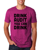 "Drink audit you can drink Black mens T Shirt-T Shirts-Gildan-Antique Helconia-S To Fit Chest 36-38"" (91-96cm)-Daataadirect"