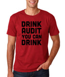 "Drink audit you can drink Black mens T Shirt-T Shirts-Gildan-Cardinal-S To Fit Chest 36-38"" (91-96cm)-Daataadirect"