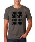 "Drink audit you can drink Black mens T Shirt-T Shirts-Gildan-Charcoal-S To Fit Chest 36-38"" (91-96cm)-Daataadirect"