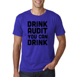 "Drink audit you can drink Black mens T Shirt-T Shirts-Gildan-Cobalt-S To Fit Chest 36-38"" (91-96cm)-Daataadirect"