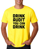 "Drink audit you can drink Black mens T Shirt-T Shirts-Gildan-Daisy-S To Fit Chest 36-38"" (91-96cm)-Daataadirect"