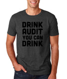 "Drink audit you can drink Black mens T Shirt-T Shirts-Gildan-Dk Heather-S To Fit Chest 36-38"" (91-96cm)-Daataadirect"