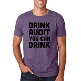 "Drink audit you can drink Black mens T Shirt-T Shirts-Gildan-Heather Purple-S To Fit Chest 36-38"" (91-96cm)-Daataadirect"