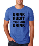 "Drink audit you can drink Black mens T Shirt-T Shirts-Gildan-Heather Royal-S To Fit Chest 36-38"" (91-96cm)-Daataadirect"