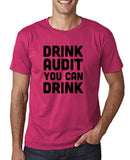 "Drink audit you can drink Black mens T Shirt-T Shirts-Gildan-Heliconia-S To Fit Chest 36-38"" (91-96cm)-Daataadirect"