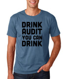 "Drink audit you can drink Black mens T Shirt-T Shirts-Gildan-Indigo Blue-S To Fit Chest 36-38"" (91-96cm)-Daataadirect"