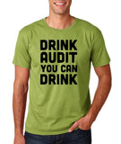 "Drink audit you can drink Black mens T Shirt-T Shirts-Gildan-Kiwi-S To Fit Chest 36-38"" (91-96cm)-Daataadirect"