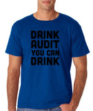 "Drink audit you can drink Black mens T Shirt-T Shirts-Gildan-Royal Blue-S To Fit Chest 36-38"" (91-96cm)-Daataadirect"