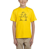 Druming sea bird Black Kids T Shirt-T Shirts-Gildan-Daisy-YXS (3-5 Year)-Daataadirect