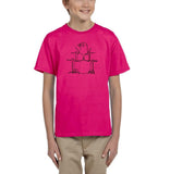 Druming sea bird Black Kids T Shirt-T Shirts-Gildan-Helconia-YXS (3-5 Year)-Daataadirect