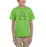 Druming sea bird Black Kids T Shirt-T Shirts-Gildan-Kiwi-YXS (3-5 Year)-Daataadirect