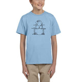Druming sea bird Black Kids T Shirt-T Shirts-Gildan-Light Blue-YXS (3-5 Year)-Daataadirect
