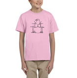 Druming sea bird Black Kids T Shirt-T Shirts-Gildan-Light Pink-YXS (3-5 Year)-Daataadirect