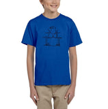 Druming sea bird Black Kids T Shirt-T Shirts-Gildan-Royal Blue-YXS (3-5 Year)-Daataadirect