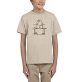 Druming sea bird Black Kids T Shirt-T Shirts-Gildan-Sand-YXS (3-5 Year)-Daataadirect