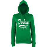 DURHAM Probably The Best City In The World Womens Hoodies White-AWD-Daataadirect.co.uk