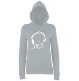 Earphone Women Hoodies White-AWD-Daataadirect.co.uk