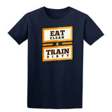 Eat Clean & Train Dirty Mens T Shirts-Gildan-Daataadirect.co.uk