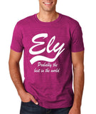 "ELY Probably The Best City In The World Mens T Shirts White-T Shirts-Gildan-Antique Heliconia-S To Fit Chest 36-38"" (91-96cm)-Daataadirect"