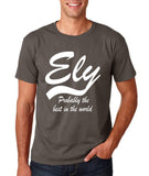 "ELY Probably The Best City In The World Mens T Shirts White-T Shirts-Gildan-Charcoal-S To Fit Chest 36-38"" (91-96cm)-Daataadirect"