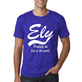 "ELY Probably The Best City In The World Mens T Shirts White-T Shirts-Gildan-Cobalt-S To Fit Chest 36-38"" (91-96cm)-Daataadirect"