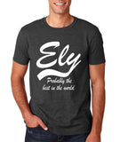 "ELY Probably The Best City In The World Mens T Shirts White-T Shirts-Gildan-Dk Heather-S To Fit Chest 36-38"" (91-96cm)-Daataadirect"