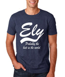 "ELY Probably The Best City In The World Mens T Shirts White-T Shirts-Gildan-Heather Navy-S To Fit Chest 36-38"" (91-96cm)-Daataadirect"