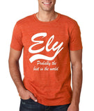 "ELY Probably The Best City In The World Mens T Shirts White-T Shirts-Gildan-Heather Orange-S To Fit Chest 36-38"" (91-96cm)-Daataadirect"