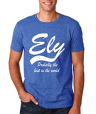 "ELY Probably The Best City In The World Mens T Shirts White-T Shirts-Gildan-Heather Royal-S To Fit Chest 36-38"" (91-96cm)-Daataadirect"