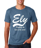 "ELY Probably The Best City In The World Mens T Shirts White-T Shirts-Gildan-Indigo Blue-S To Fit Chest 36-38"" (91-96cm)-Daataadirect"