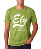 "ELY Probably The Best City In The World Mens T Shirts White-T Shirts-Gildan-Kiwi-S To Fit Chest 36-38"" (91-96cm)-Daataadirect"
