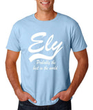"ELY Probably The Best City In The World Mens T Shirts White-T Shirts-Gildan-Light Blue-S To Fit Chest 36-38"" (91-96cm)-Daataadirect"