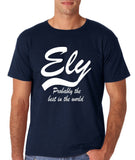 "ELY Probably The Best City In The World Mens T Shirts White-T Shirts-Gildan-Navy-S To Fit Chest 36-38"" (91-96cm)-Daataadirect"