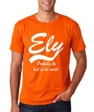 "ELY Probably The Best City In The World Mens T Shirts White-T Shirts-Gildan-Orange-S To Fit Chest 36-38"" (91-96cm)-Daataadirect"