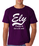 "ELY Probably The Best City In The World Mens T Shirts White-T Shirts-Gildan-Purple-S To Fit Chest 36-38"" (91-96cm)-Daataadirect"