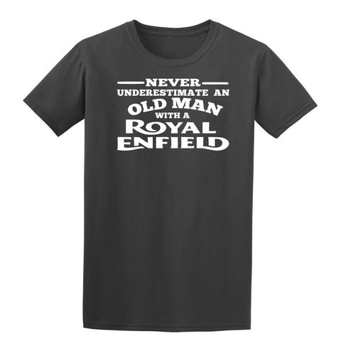 [daataadirect.co.uk]-Enfield Never Underestimate An Old Man Mens T-Shirt-t-shirts-Gildan-Colour-Size-Daataadirect