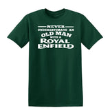 [daataadirect.co.uk]-Enfield Never Underestimate An Old Man Mens T-Shirt-t-shirts-Gildan-Forest Green-S-Daataadirect