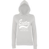 "[daataadirect.co.uk]-EXETER Probably The Best City In The World Womens Hoodies White-Hoodies-AWD-Ash-XS UK 8 Euro 32 Bust 30""-Daataadirect"