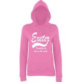 "[daataadirect.co.uk]-EXETER Probably The Best City In The World Womens Hoodies White-Hoodies-AWD-Candyfloss Pink-XS UK 8 Euro 32 Bust 30""-Daataadirect"